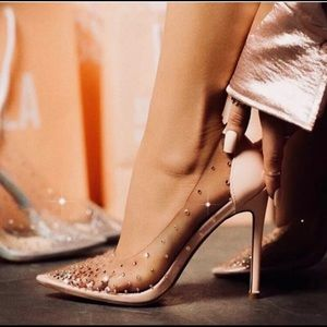 Gorgeous. Stunning Champagne Crystal Heels